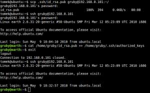 Terminal Linux'a