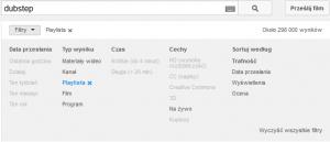 Wyszukiwanie Playlisty na YouTube