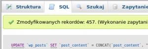 Pole SQL w PhpMyAdmin