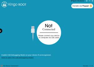 Główny ekran aplikacji Kingo