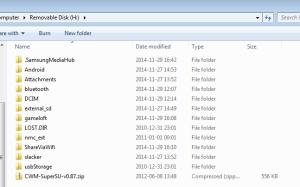 Katalog telefonu w trybie USB Storage